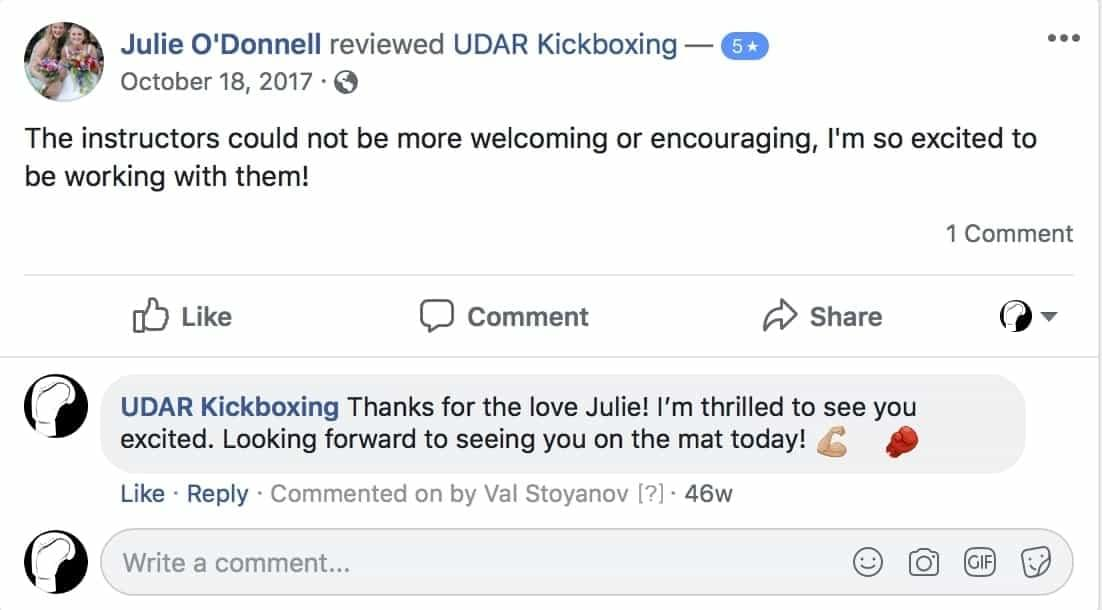 Julie O'Donnell said the instructors are welcoming and encouraging at udar kickboxing class in long beach ny